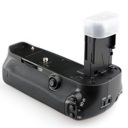Meike MK-5DMARKIII Grip Batteria per Canon 5D Mark III, Nero
