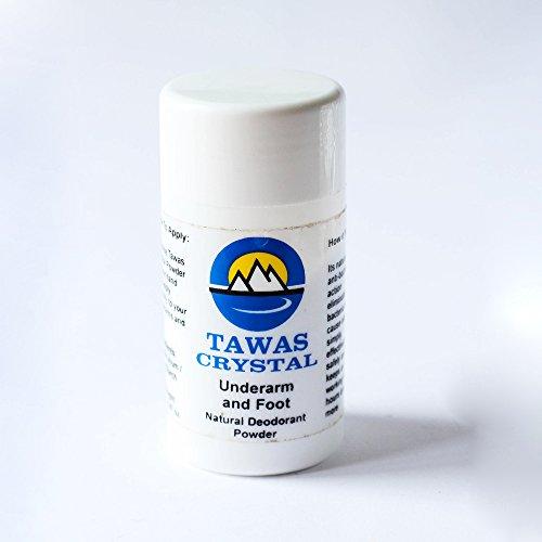 Tawas Cristallo Deodorante Polvere - Handmade, Antibatterico, regalo.
