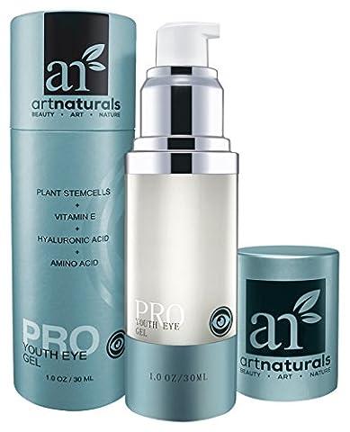 ArtNaturals Anti-Aging Augenfalten Gel Creme - Natürliche und Sanfte Spezialpflege für die Augenzone mit Aloe Vera, Hyaluronsäure und Pflanzlichen Ölen - 30