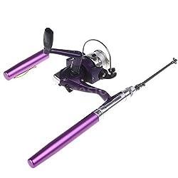 Mini Portable Aluminum Pocket Pen Fishing Rod Pole + Reel Z2O3