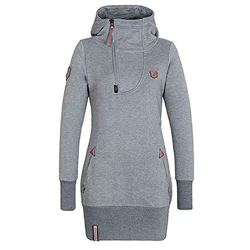 TOPKEAL Taschenreißverschluss Hoodie Lange Ärmel Pullover Damen Herbst Winter Kapuzenpullover Sweatshirt Winterpullover Jacke Mantel Tops Mode 2019 -