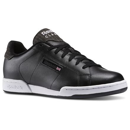 Reebok NPC RAD Pop v62757Herren Basketballschuhe, schwarz, 38,5