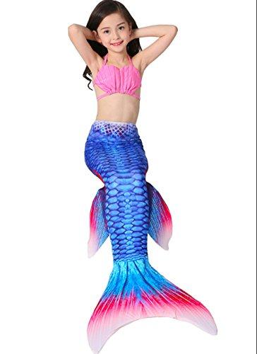 Das Beste Mädchen Meerjungfrauen Bikini Kostüm Meerjungfrau Schwimmanzug Badeanzüge Tankini Muschel Gr. 130, 130, Farbe: (Kostüme Beste Meerjungfrau)