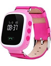 Nueva anti-lost GPS localizar Monitor niños reloj inteligente teléfono para Android IOS rosa