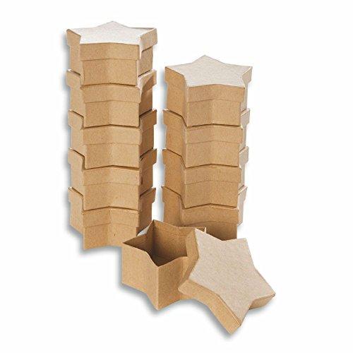 Creleo 790262 de cartón para-cajas con forma de estrella para Manualidades cajas con tapa, 10 pcs, 8,5 x 7,5 x 4 cm