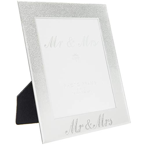 Silver Glitter Mr and Mrs Frame 8X10