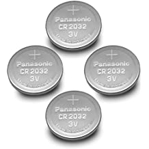(4pcs) PANASONIC Cr2032 3v Lithium Coin Cell Battery for Misfit Shine Sh0az Personal Physical Activity Monitor by Panasonic