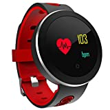 SanQing Sport Smart Watch, IP68 Impermeabile Fitness Tracker con Touch Screen Miglior pedometro per Il Polsino e cardiofrequenzimetro Monitoraggio della frequenza cardiaca,Red