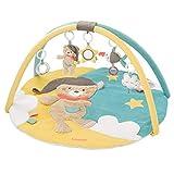 Fehn 060256 3-D-Activity-Decke Bruno | Spielbogen mit 5 abnehmbaren Spielzeugen für Babys Spiel & Spaß von Geburt an | Maße: Ø85cm