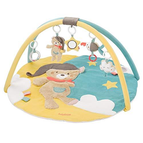Fehn 060256 3-D-Activity-Decke Bruno   Spielbogen mit 5 abnehmbaren Spielzeugen für Babys Spiel & Spaß von Geburt an   Maße: Ø85cm