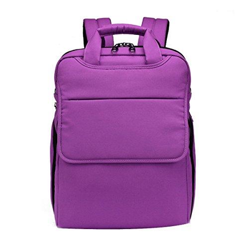 HAOYUXIANG Einfache Und Elegante Mittelschüler Lässig Sporttasche,Black DarkPurple