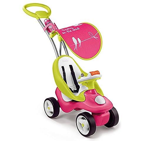 Smoby Toys, 720102, Porteur Enfant Evolutif 2 en 1 Bubble Go avec Roues Silencieuses, Rose