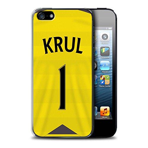 Offiziell Newcastle United FC Hülle / Case für Apple iPhone 5/5S / Colback Muster / NUFC Trikot Home 15/16 Kollektion Krul