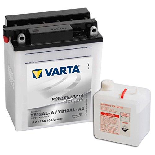 Varta 558152 Powersports Freshpack Batería de Motocicleta, 12V, 12 Ah, YB12AL-A/A2