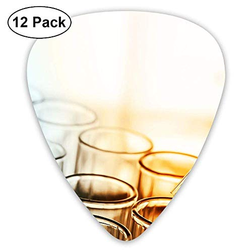Classic Guitar Pick (12 Pack) Chemistry Tubes Player's Pack for Electric Guitar,Acoustic Guitar,Mandolin,Guitar Bass -
