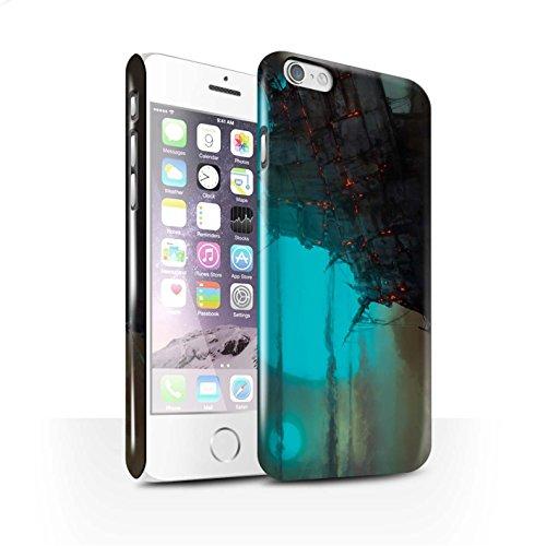 Offiziell Chris Cold Hülle / Glanz Snap-On Case für Apple iPhone 6S / Schiffswrack Muster / Gefallene Erde Kollektion Gift Haupt
