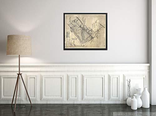 New York Map Company () 1882 Karte Vesuvius Ofen Eisen Kombi, Rockbridge County, VA. Zeigt Namen einige Bewohner auf Historischer Vintage-Kunstdruck -