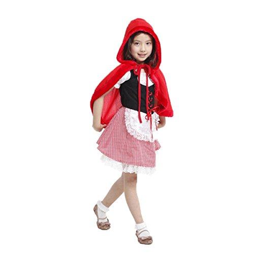 inderbekleidung Make-up Ball Cosplay Mädchen Rotkäppchen Rollenspiele Kleidung Cartoon-Figuren,B-110-120cm (Cartoon Figur Kostüm Make Up)