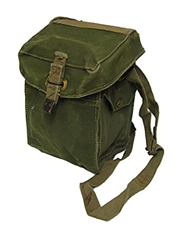 British Army WWII Light Canvas Gas Mask Bag Grade 1