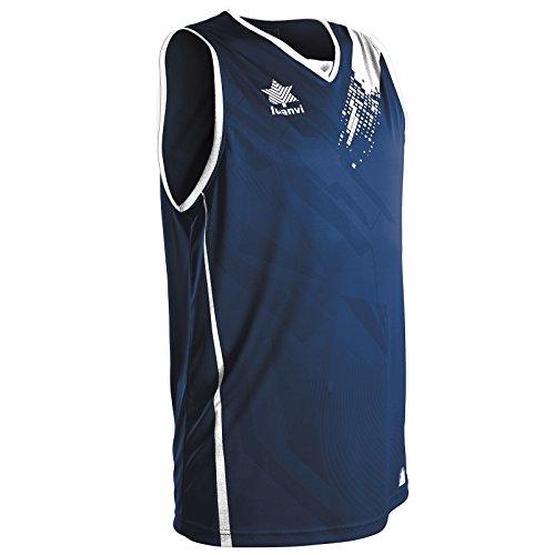 Luanvi Play Camiseta de Tirantes Deportiva de Baloncesto, Unisex Adulto, Azul, XL