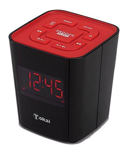 TOKAI - TC -135KR Radio -Réveil - Tuner Digital avec Présélections - Rouge