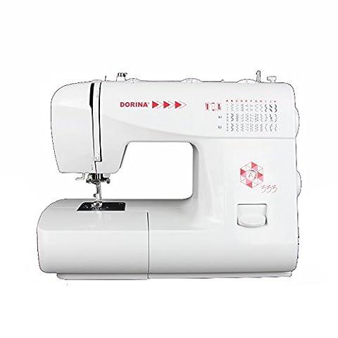 Dorina Nähmaschine 333 | Die perfekte Freiarm-Nähmaschine für DIY Begeisterte | 33 Nutz- und Zierstiche für jeden Stoff
