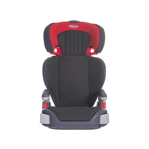 Graco Junior Maxi Lightweight Highback Booster Car Seat, Group 2/3, Pompeian Red Graco For children 15 to 36 kg (approx. 4 to 12 years) Convenient one-hand adjustable headrest Height-adjustable armrests for comfort 1