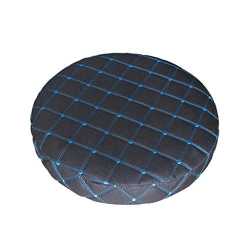 Baoblaze Housse de Tabouret Chaise Remplacement Couverture 11-14 - Noir Bleu