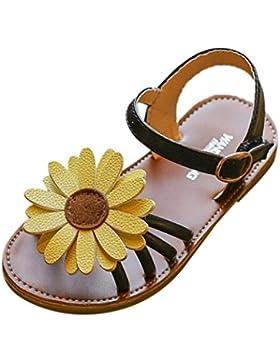 Logobeing Sandalias Niñas Verano Princesa Primeros Pasos Flor Zapatos de Niña, La Primera Elección del Niño