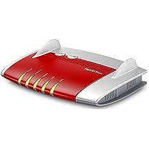 AVM FRITZ!Box 4020 WLAN-Router (für Anschluss an Kabel-/DSL-/Glasfasermodem, WLAN N, 450 MBit/s (2,4 GHz) 4 x Fast-Ethernet, 1 x USB 2.0, Mediaserver) rot/weiß, deutschsprachige Version