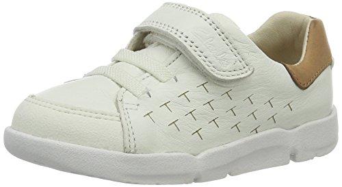 Clarks Baby Jungen Tri Spin Fst Lauflernschuhe Weiß (White Leather)