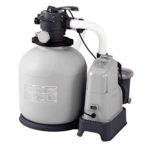 Intex Sandfilteranlage Krystal Clear 10 m³ & Salzwassersystem, grau, 8,000 l/h / 750 W / 230 V