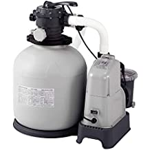 Intex Krystal Clear Sand Filter, 10m³, Salt Water System, Grey, 8000L/H, 750W, 230/V