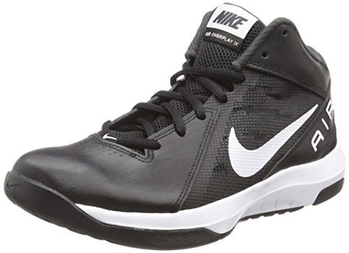 Nike the Air Overplay Ix, Chaussures de Sport-Basketball Homme Noir (Black/White-Anthracite-Dark Grey)