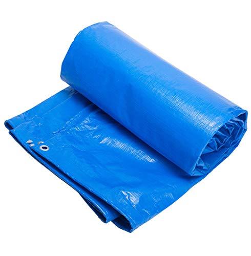 QIANCHENG-tarpaulins Bâche De Protection Couverture Polyéthylène Imperméable Parasol Tampon Étanche À L'humidité -180g / M², Épaisseur 0.4mm, Bleu, 11 Tailles Facultatives,Blue-4x4m
