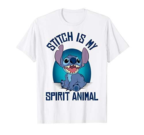 Disney Lilo & Stitch Is My Spirit Animal Striped Portrait T-Shirt (Kinder Disney Hoodie Stitch)