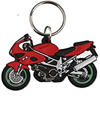 Techpro Soft Rubber Keychain Double Sided With Suzuki TL Bike Design