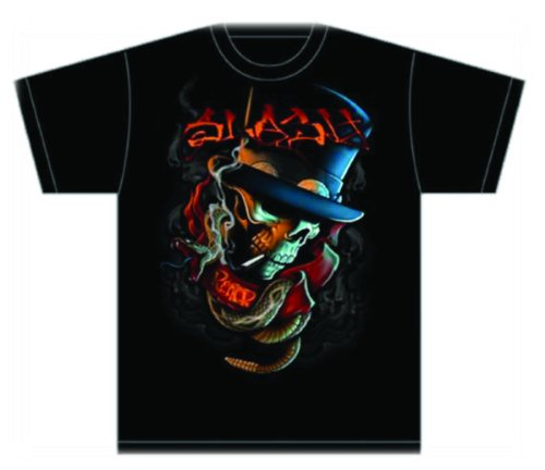 Collectors Mine Herren T-Shirt Slash-Smoker, Gr. 46 (S), Schwarz (Schwarz) (Slash T-shirt Skull)