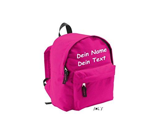 Shirtstown Kinderrucksack individuell mit deinem Wunschtext versehen pink