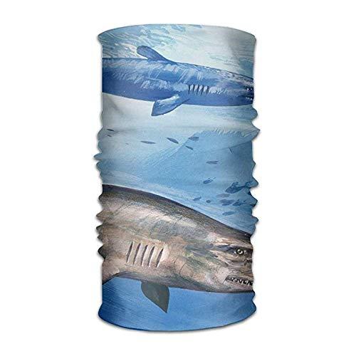 VTXWL Men Women Blue Goblin Shark Daily Bandanas Sports Headwear Headscarf UV Protection Bandanas Neck Gaiter Outdoors