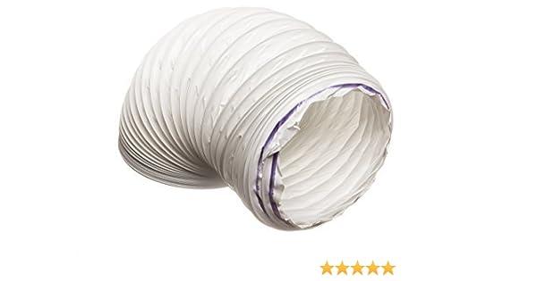 Schellen Abluftschlauch PVC weiß für Dunstabzugshauben ø125mm 1,5m lang inkl