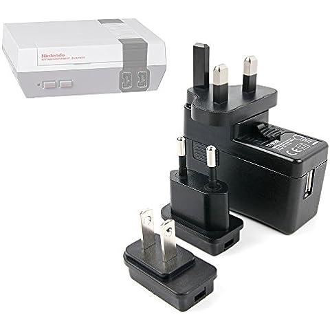DURAGADGET Kit De Adaptadores Con Cargador Para Consola Nintendo NES Classic Mini - ¡Conecte Su Smartphone Por Todo El