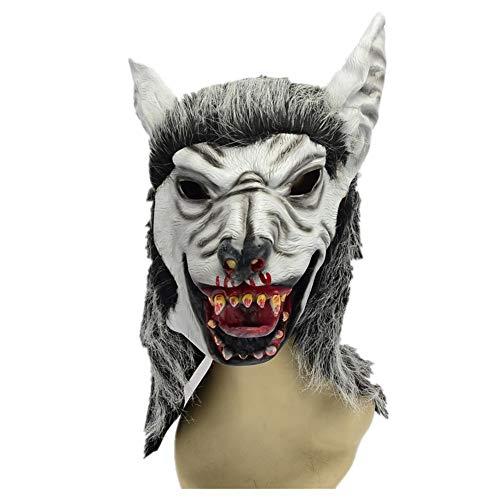 sterfest Nachtclub Karneval Grauer Wolf Maske ()