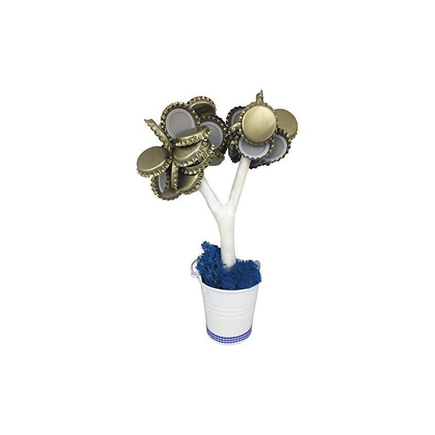 KRONLY Magnetbaum mit 2 starken Magneten hält über 50 Kronkorken 1