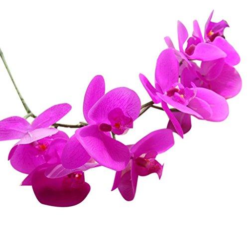 Quaan Blumenstrauß-Phalaenopsis-Hochzeitsblumenstrauß-Parteiausgangsdekoration des Rayons Künstliche (Violett)