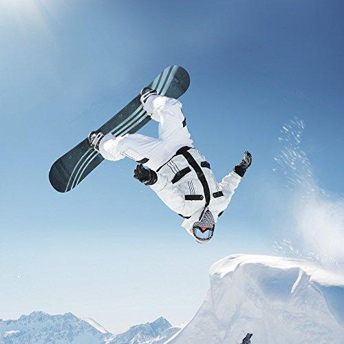 Apple iPhone 5s Housse Étui Protection Coque Snowboard Neige Montagne Étui en cuir bleu marine