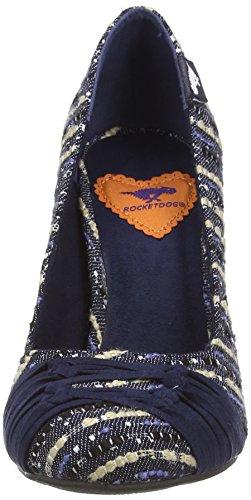 Rocket Dog JAMS Damen Pumps Blau (NAVY BAQ)