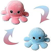 N/H Pulpo Reversible Muñeca Pulpo Peluches Lindo Pulpo de Doble Cara Animales Reversible Pulpo Sea Life Juguetes Navidad Juguetes creativos Regalo para niños (Rosa + Azul)