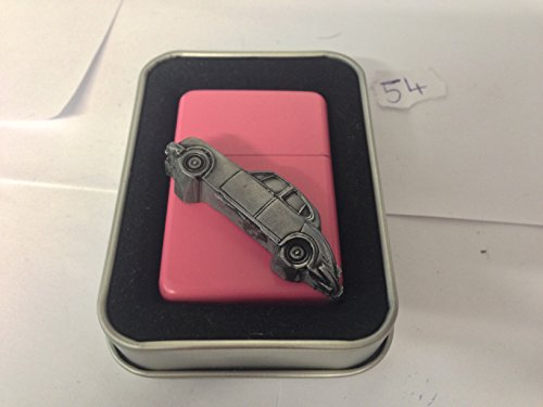 daimler-v8-3d-flip-top-petrol-lighter-windproof-pink-refillable-ref54