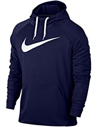 Nike M Nk Dry Po Swoosh Sudadera con Capucha, Hombre, Azul (Blue Void) / Blanco, M